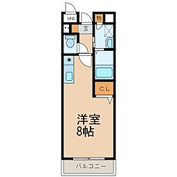 トゥー・ル・モンド 2階1Kの間取り