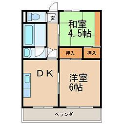 第5宮田ビル[3階]の間取り