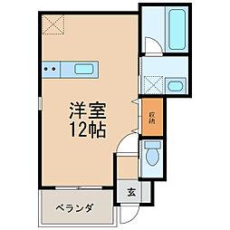 クラウンハイツ紀三井寺II[1階]の間取り
