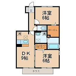 パーク フォレスト B棟[1階]の間取り