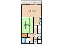北海道函館市日乃出町の賃貸マンションの間取り
