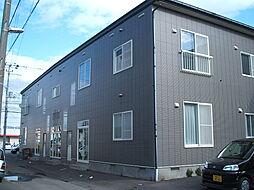 北海道北斗市東浜1丁目の賃貸アパートの外観
