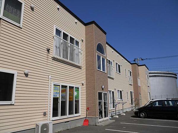 北海道北斗市追分3丁目の賃貸アパートの外観