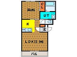 北海道函館市松川町の賃貸マンションの間取り