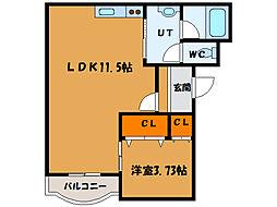 北海道函館市昭和2丁目の賃貸マンションの間取り