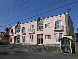 北海道函館市北浜町の賃貸アパートの外観