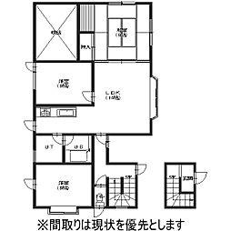 北海道亀田郡七飯町字本町の賃貸アパートの間取り
