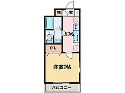 クレセントハイム[1階]の間取り