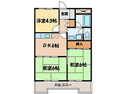 高津ハイツ[2階]の間取り