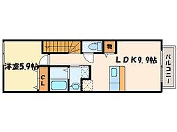 ソレイユ・アミュー北館[2階]の間取り
