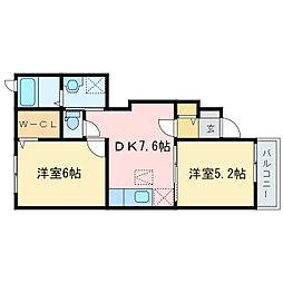 ピュア サイト[1階]の間取り