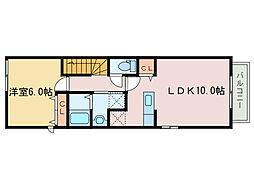 ソーレ フジII[2階]の間取り