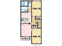 ルナ プレーナ[2階]の間取り