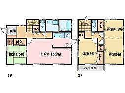 [一戸建] 愛媛県新居浜市垣生5丁目 の賃貸【/】の間取り
