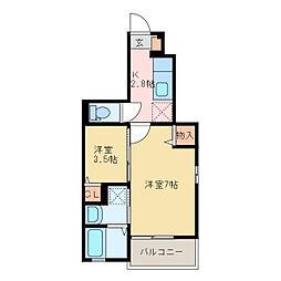 泉宮町アパート[1階]の間取り