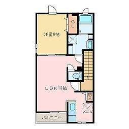 国領1丁目アパート C[C205号室]の間取り