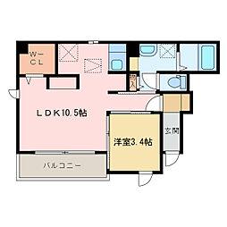 マウナ・オハナ[1階]の間取り