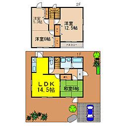 [一戸建] 滋賀県大津市大石中5丁目 の賃貸【/】の間取り