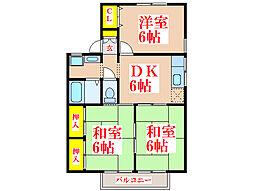 PAX明和B棟[2階]の間取り