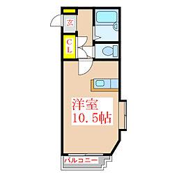 JAウィング新屋敷[4階]の間取り