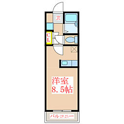 JAウィング新屋敷[2階]の間取り