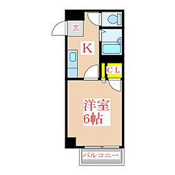 栄和第一ビル[4階]の間取り