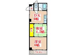 村田パークマンション [1階]の間取り