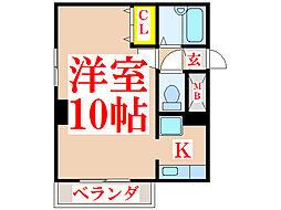 サンロイヤル新屋敷[3階]の間取り