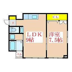 第一寺田ビル[4階]の間取り