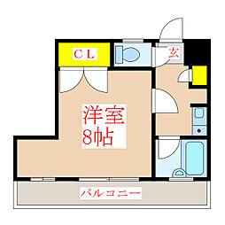 ヴァンべール西田[3階]の間取り