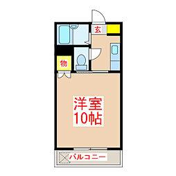 パークサイド西田 [4階]の間取り