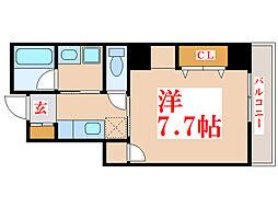 K・BLD[6階]の間取り