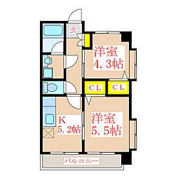 さくらヒルズ新屋敷壱番館[4階]の間取り