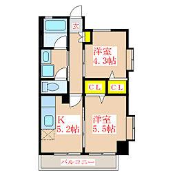 さくらヒルズ新屋敷壱番館[6階]の間取り
