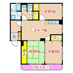 ユーミー長田A棟[2階]の間取り