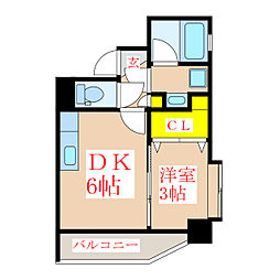 ツインコート・タワーズII番館[4階]の間取り