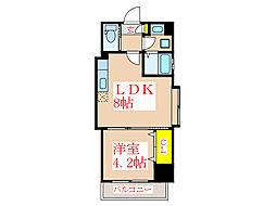 ツインコート・タワーズI番館[2階]の間取り