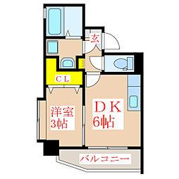ツインコート・タワーズI番館[3階]の間取り
