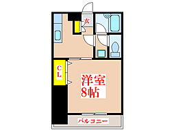 パールハイツ潮[3階]の間取り