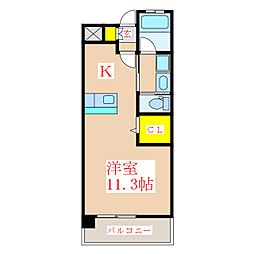 ステージアK[3階]の間取り