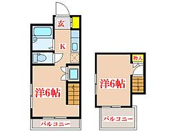 ダイムIV[9階]の間取り