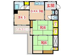 床次ビル (加治屋町)[4階]の間取り