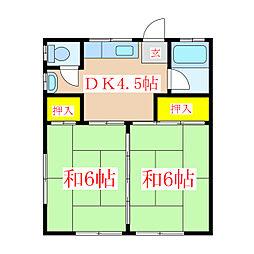 大山アパート [2階]の間取り