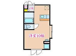 プレミュー 2階ワンルームの間取り