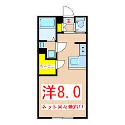 Air/One 2階ワンルームの間取り