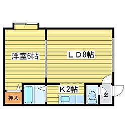 プレヴェール20[2階]の間取り