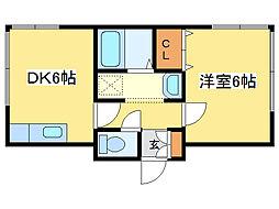 カナロアハウス[4階]の間取り