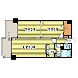ウィンコート39[10階]の間取り