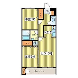 マイドリーム2[3階]の間取り