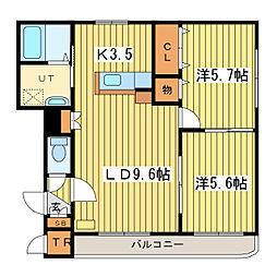 I.claire元町アイクレール元町[4階]の間取り